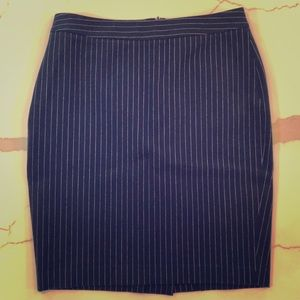 Navy striped BR pencil skirt